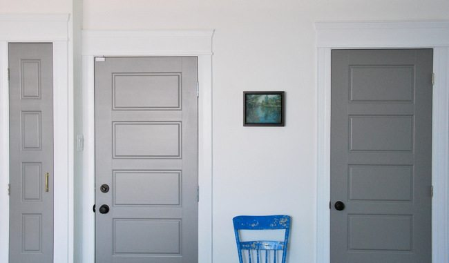painting gray interior doors how i did it and the amazing. Black Bedroom Furniture Sets. Home Design Ideas