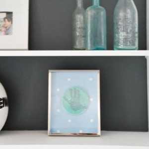 DIY project - frame kids artwork in shadow boxes - via the sweetest digs