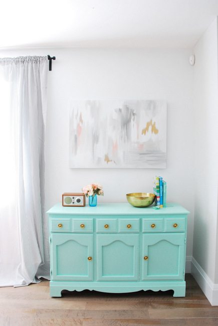 mint and gold dresser -3