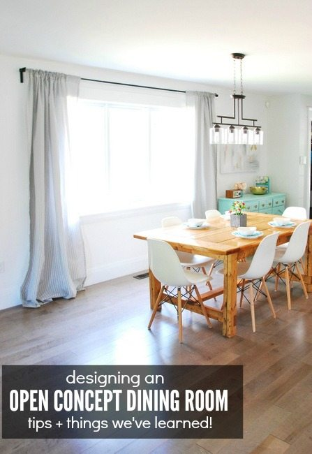 tips and advice for designing an open concept dining room - via the sweetest digs