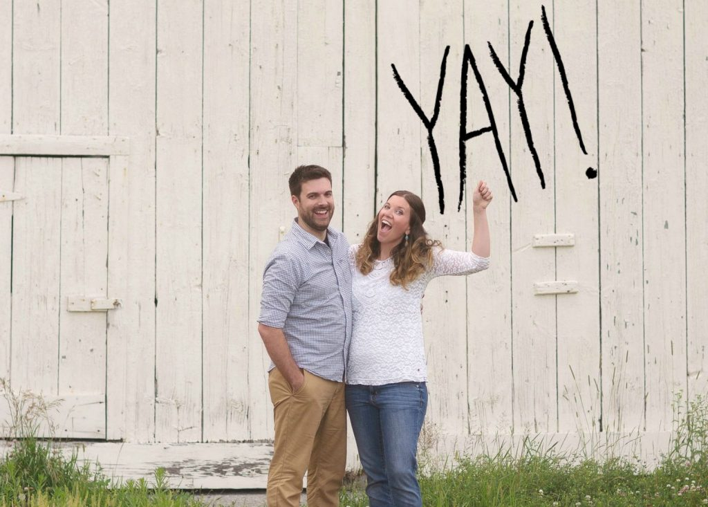 DIY photo pregnancy announcement