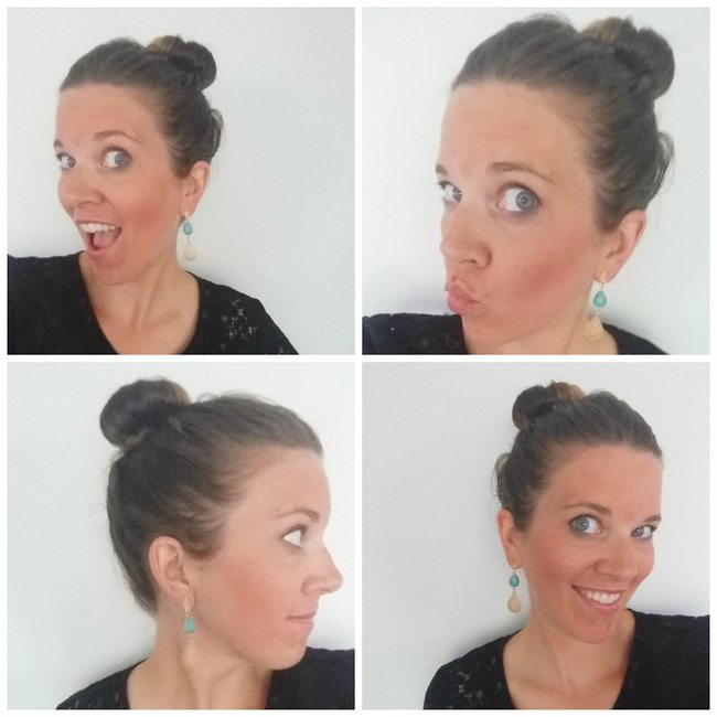 top knot collage