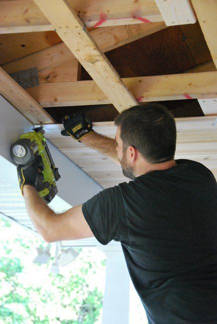 Cedar Porch Ceiling - Coming together