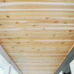 how to: a DIY cedar lined porch ceiling