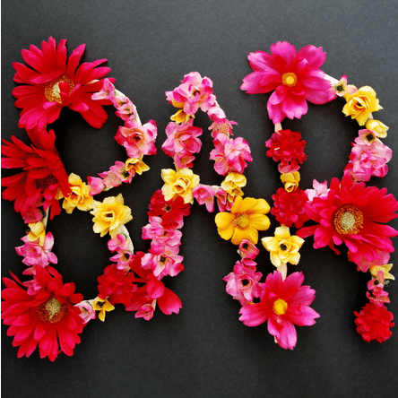 faux flower letters