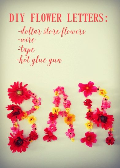 make these DIY flower letters - an easy and sweet project for under $10!p