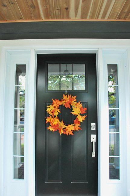 Simple DIY Fall Leaf Wreath for less than $5
