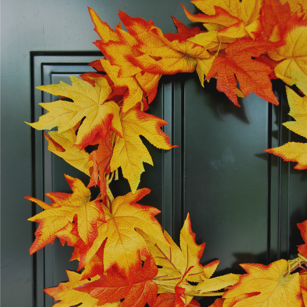 diy fall wreath - square