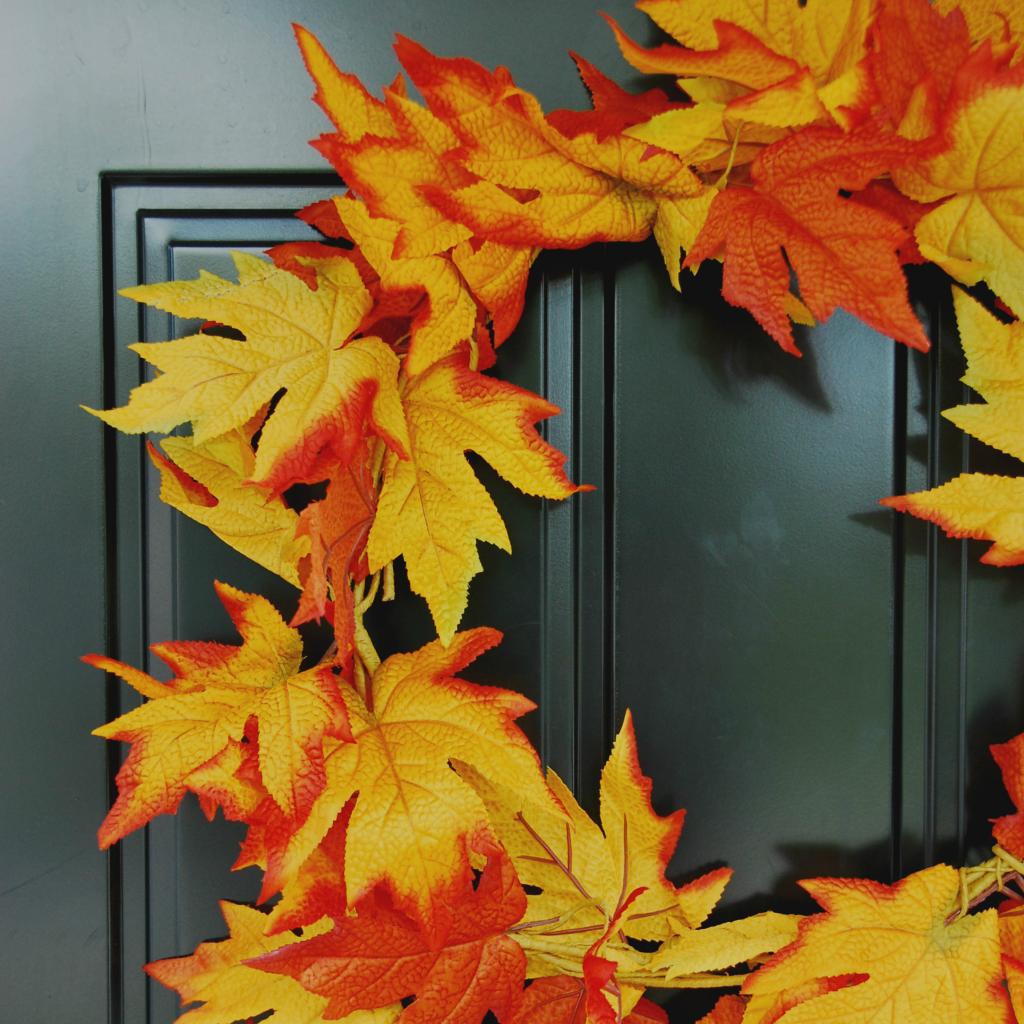 DIY fall leaf wreath (for only $5!)