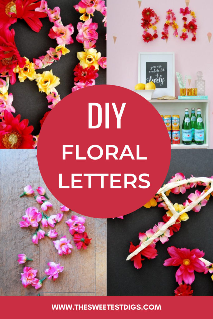 Collage of floral letters and text overlay.