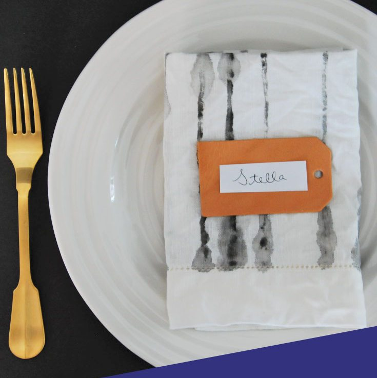 Watercolor Painted Napkins: A DIY Tutorial