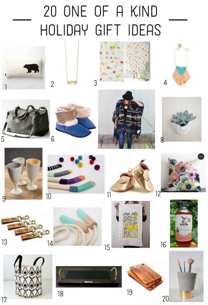 20 one of a kind handmade gifts from Canadian makers!