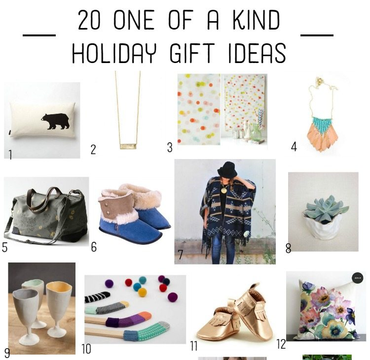 20 one of a kind handmade gifts from Canadian makers!!