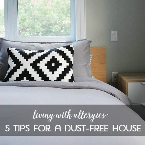 Living with Allergies: 5 tips to a dust-free house
