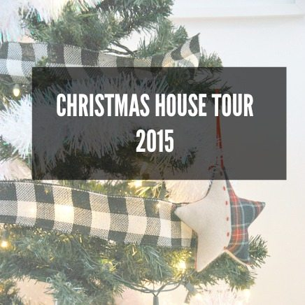 Check out this Blogger's Christmas House Tour featuring DIY and budget friendly decor. Great ideas to keep it simple and decorate in a chic black, white and gold scheme.
