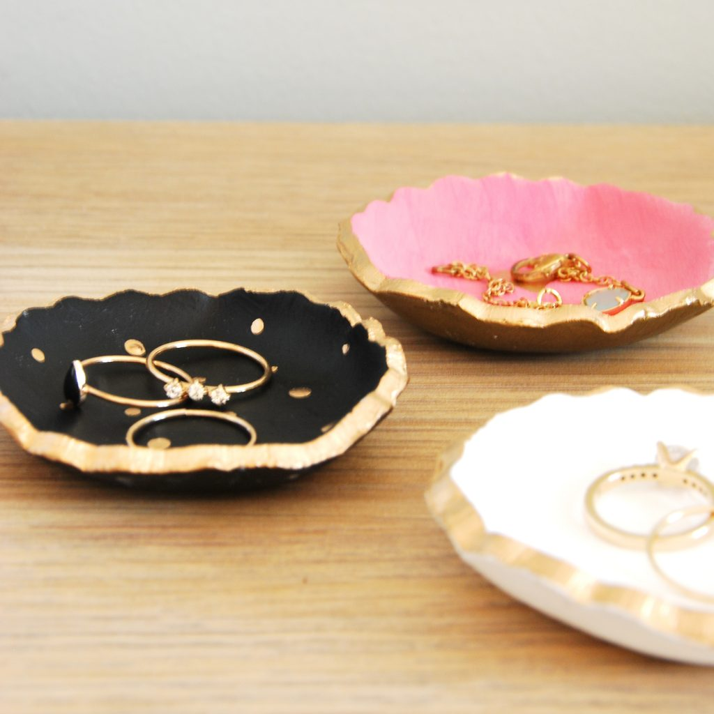 How To Make DIY Air Dry Clay Jewelry Bowls