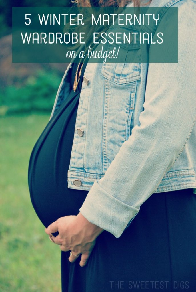 Top 5 essentials to build a winter maternity wardrobe on a budget!