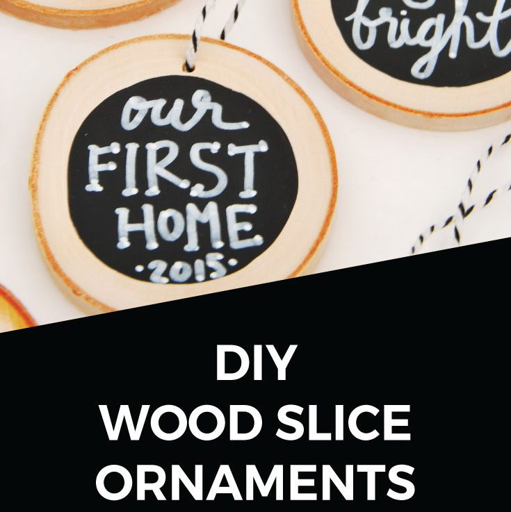 DIY Handmade Christmas Ornaments with Wood Slices
