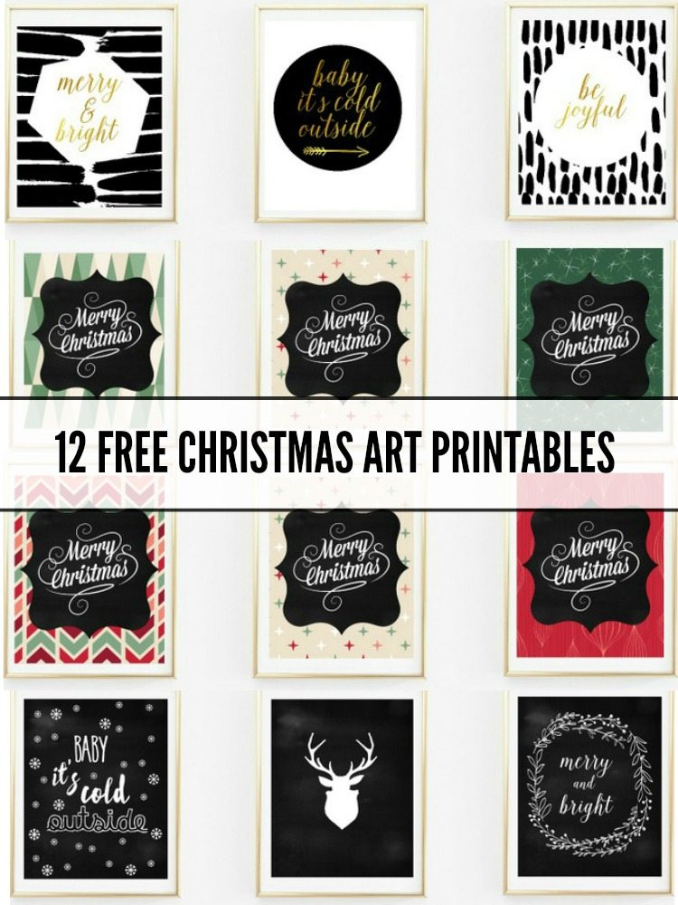 free christmas art print printables the sweetest digs