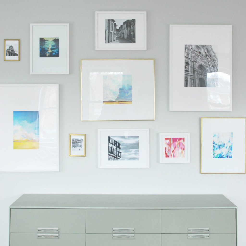 Need To Hang Artwork Diy A Gallery Wall Using Mixed Vintage And Ikea Frames Plus