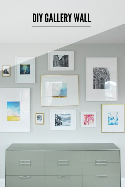 Need to hang artwork DIY a gallery wall using mixed vintage and IKEA frames. Plus, my trick for the best and easiest matching bright white mattes! Head on over to the blog post for the full how-to tutorial.