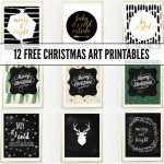 FREE christmas art print printables