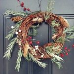 (the EASIEST) DIY rustic christmas wreath