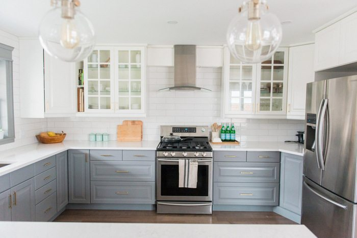 Gray and White IKEA Kitchen Transformation  the sweetest digs