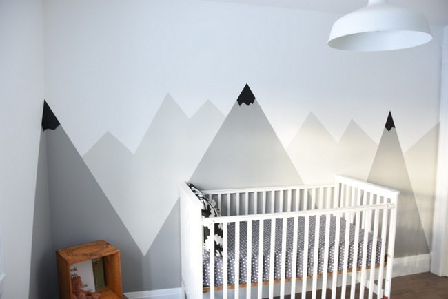 How To Paint A DIY Mountain Mural (No Art Skills Required