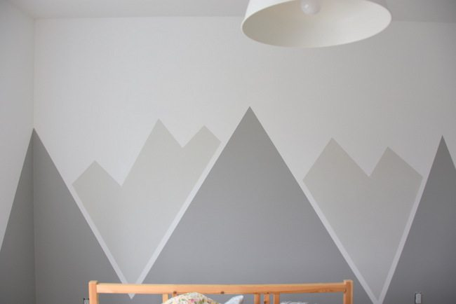 How to paint a diy mountain mural no art skills required for How to design a mural