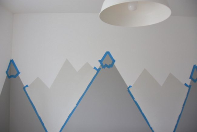 How To Paint A Diy Nursery Mountain Mural No Art Skills