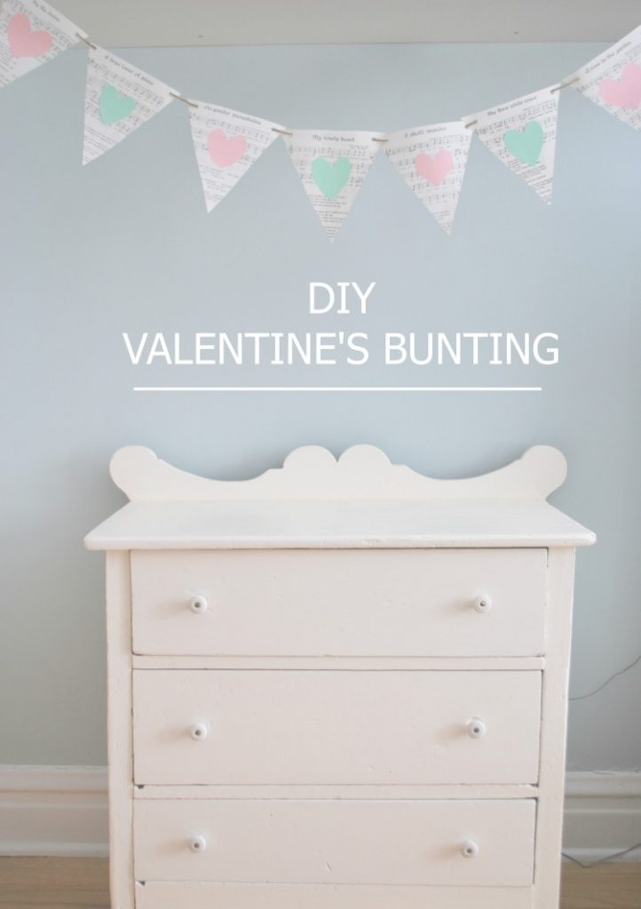 Want to make some DIY valentine's day decorations? Whip up this cute heart bunting with just paper, a hole punch, and string! Click over for the how-to tutorial.
