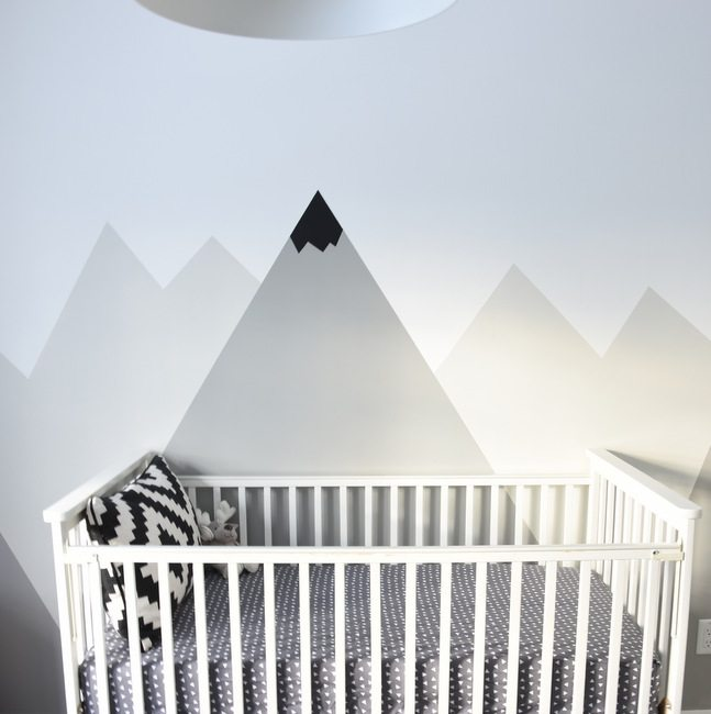 How To Paint A DIY Mountain Mural (No Art Skills Required!)
