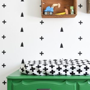 DIY nursery: creating a black and white scandi style decal wall