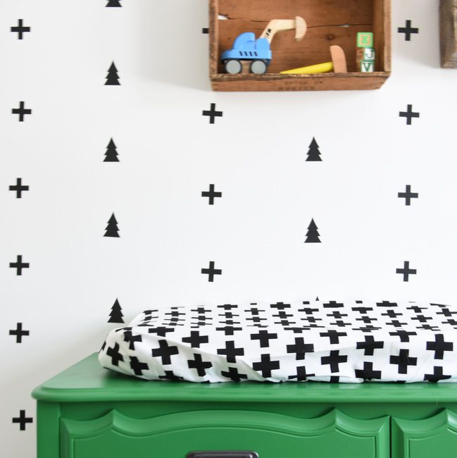 How to Create A Black And White Nursery Accent Wall