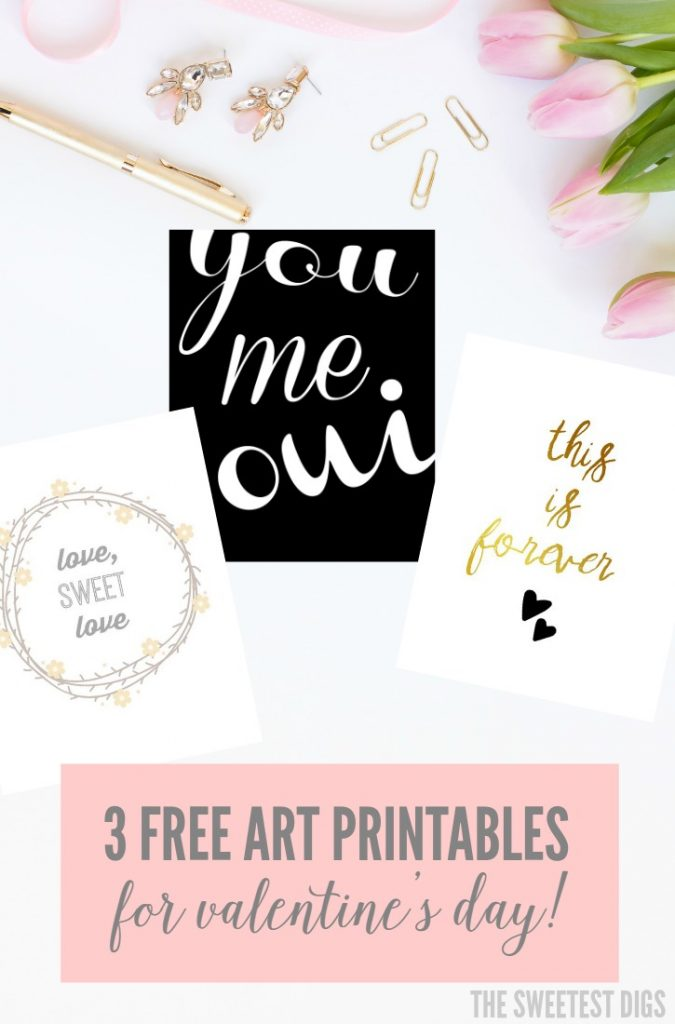 Need an easy DIY valentine's gift - Head over to the blog to get these 3 FREE instant download art printables! Frame them and give as a present, or hang in your own gallery wall. (6)
