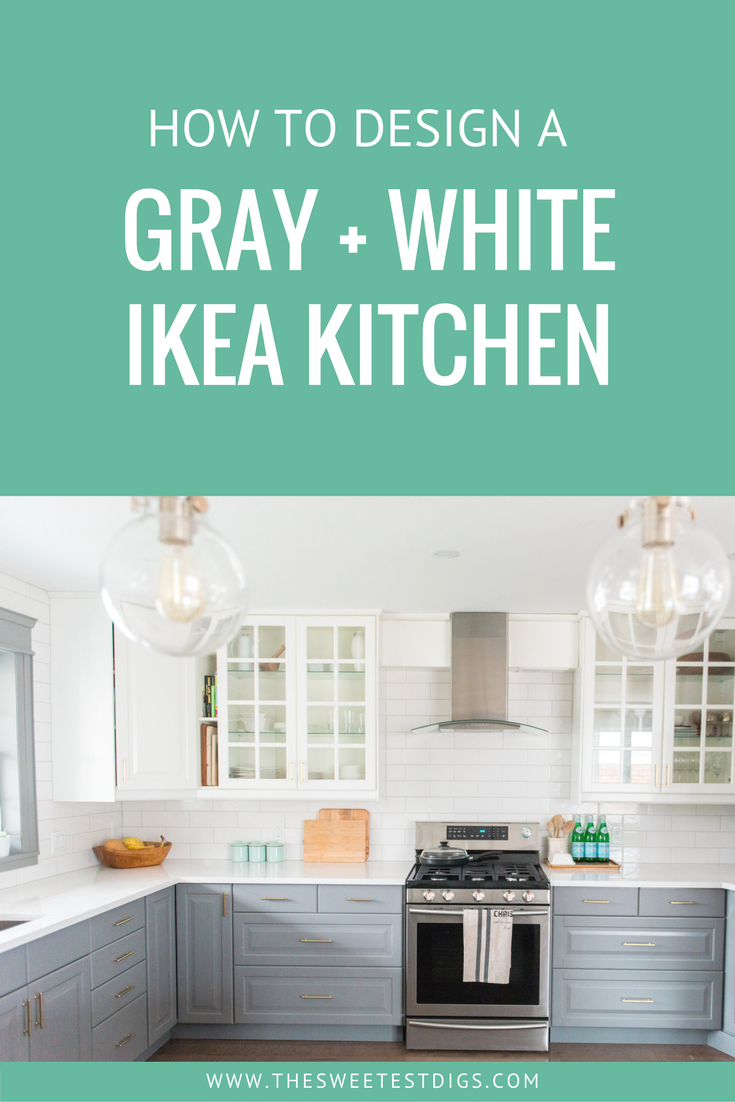 A Gray And White IKEA Kitchen. A Budget Friendly Kitchen Makeover That You  Can Design
