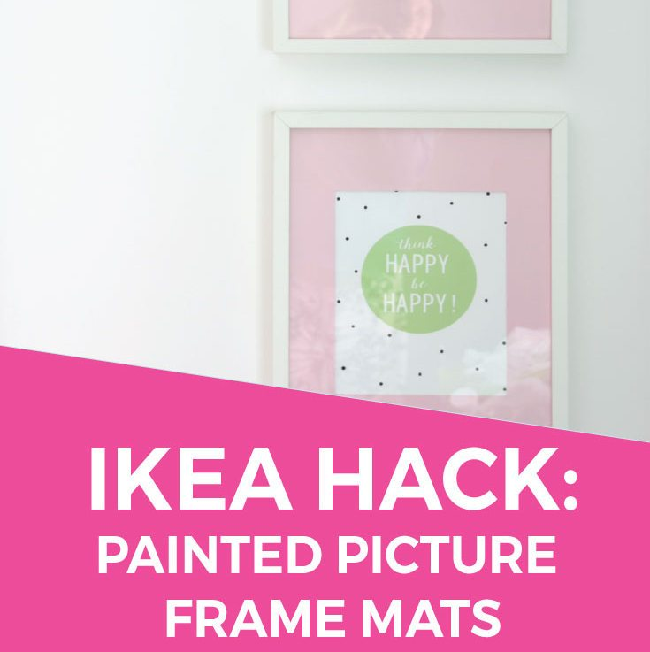 IKEA Hack: Painted Ribba Picture Frame Mats