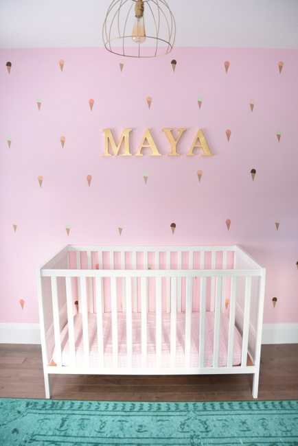 A baby girl 39 s mint and pink nursery the sweetest digs Toddler girl bedroom ideas on a budget