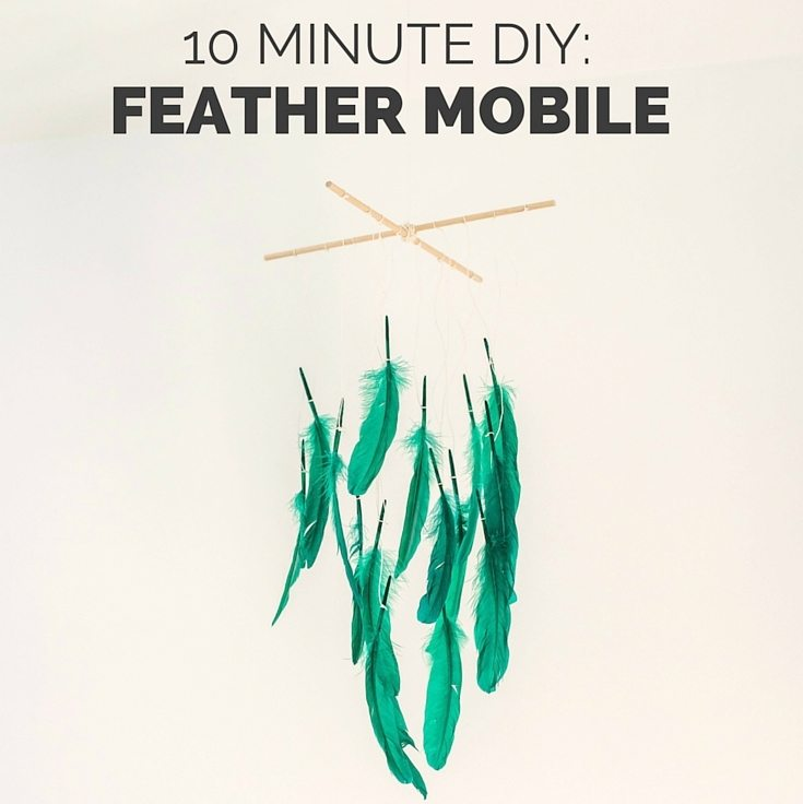 Kids Room Decor: A DIY Feather Mobile