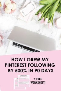 5 PINTEREST STRATEGIES I USED TO GET OVER 4000 FOLLOWERS IN 90 DAYS