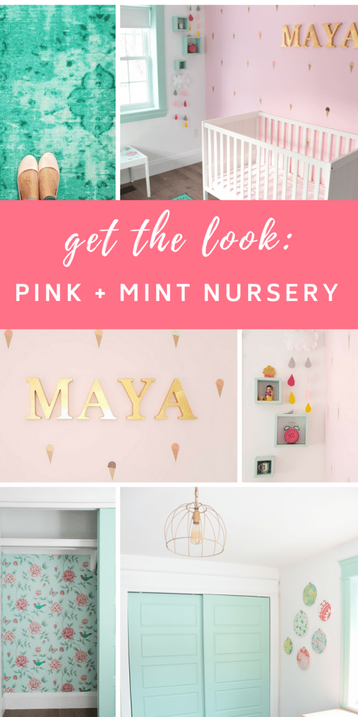 Maya S Mint And Pink Nursery Get The Look
