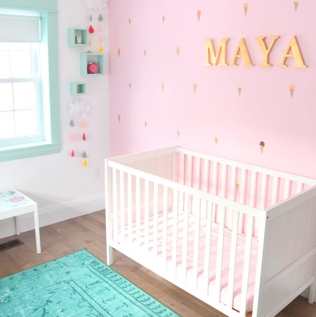 Maya's Mint And Pink Nursery: Get the Look