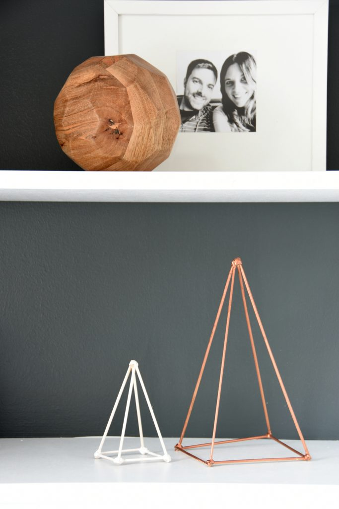 Style your Shelves with DIY Geometric Sculptures - THE