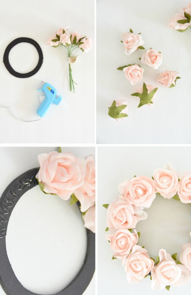 How to make a wreath with faux flowers the sweetest digs for Baby shop decoration ideas