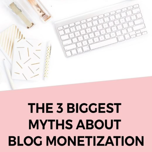 Want to make money blogging - Make sure you ignore these blog monetization myths!! Click through for the full scoop on what they are and what you can do  - Copy