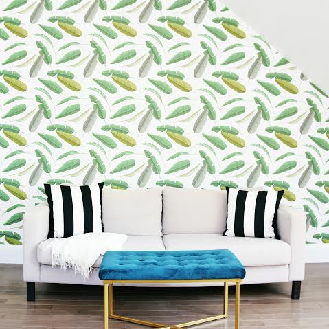 Get The Look for Less: Banana Leaf Wallpaper