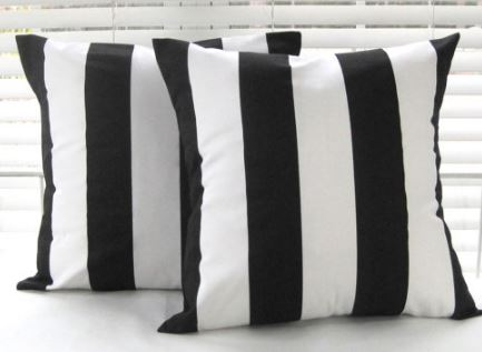 black-white-stripe-pillows