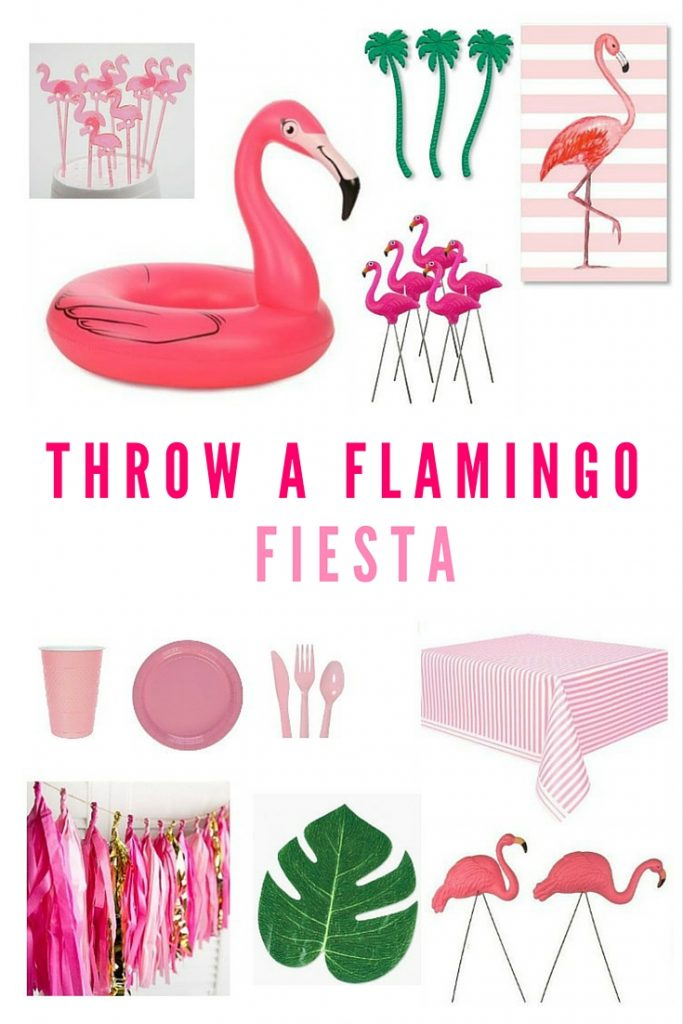 Throwing a flamingo theme party? Here is a round-up of budget-friendly tropical pink items to decorate! Such a fun birthday party idea! Click through for the source list.