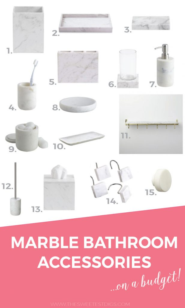 Attrayant Marble Bathroom Accessories1